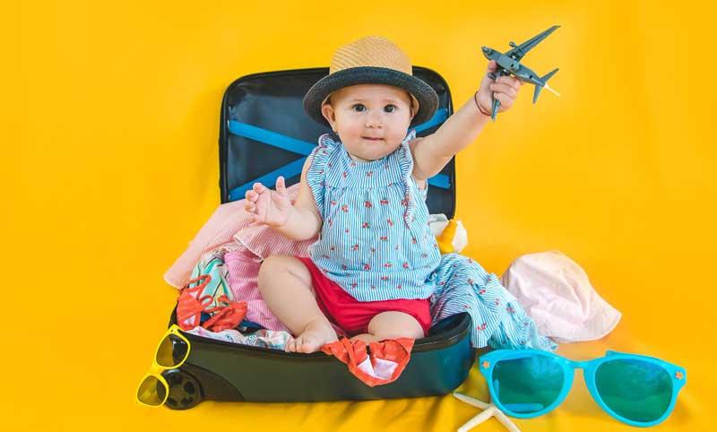 a partir de cuántos meses puede volar un bebé